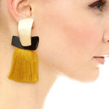 trendy design tassel dangle drop earrings for women