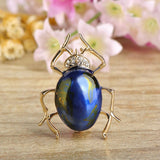 cute enamel & crystal cockroach shape brooch pin ewelry