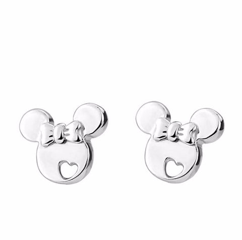 cute tiny cartoon mouse stud earrings for women