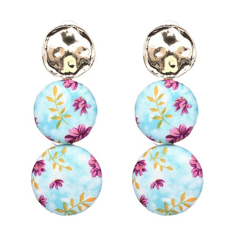 big round statement drop earrings for women