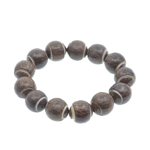 ethnic natural rosary wooden buddhist prayer beads bracelet
