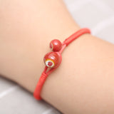 2 pcs lucky ceramic red rope bracelet