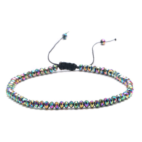 bohemian simple metal beads adjustable bracelet for women