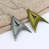 trendy star trek logo pendant necklace for men