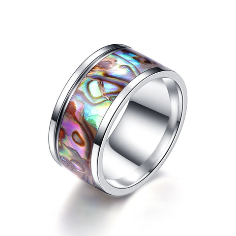 trendy colorful mix stainless steel ring