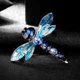 colorful crystal rhinestone dragonfly brooch pin for women