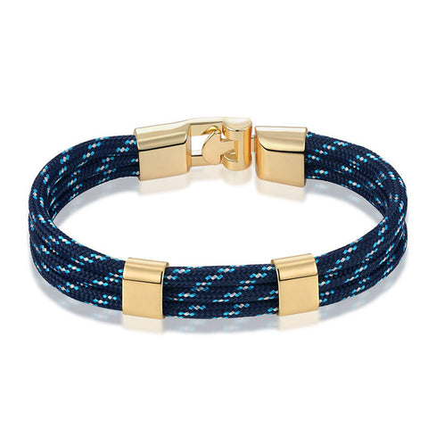 trendy multilayer rope with anchor bracelet for men