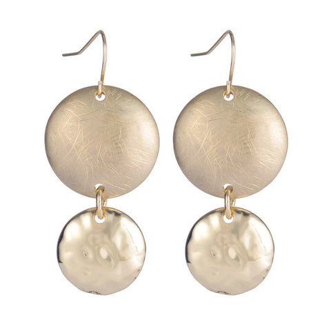 classic round sliver plated drop earrings for women