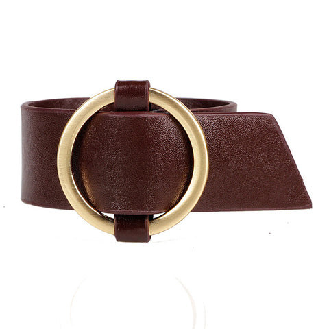 vintage wide leather rope cuff bracelet & bangle for women