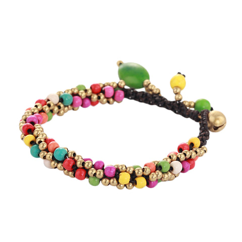 multicolor stone beads handmade bracelet for women