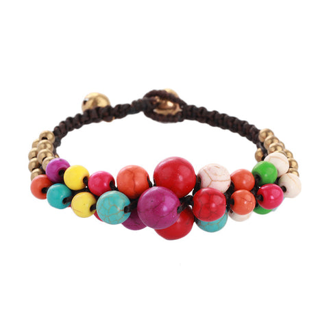 handmade multicolor stone beads bracelet & bangle for women