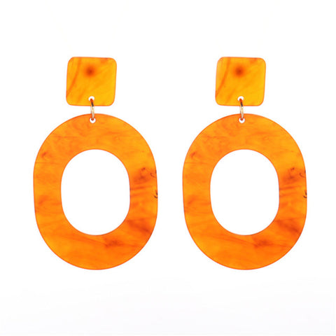 trendy geometric combination drop earrings for women