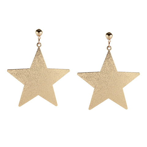 trendy metal star shape earrings for women