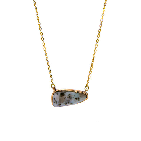 trendy geometric natural stone pendant necklace for women