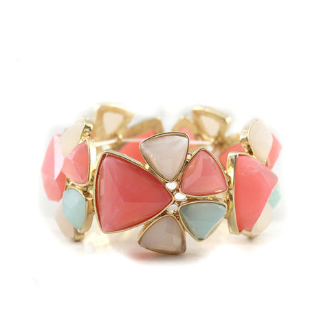 cute candy color section elastic bracelet for women