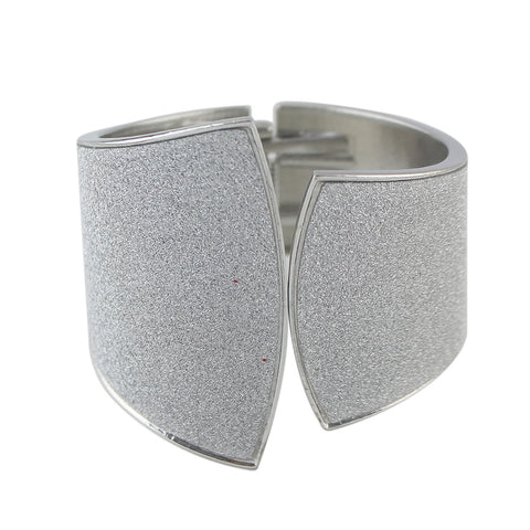 punk style silver color open cuff bracelet & bangle for woman