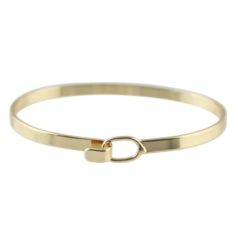 minimalist style gold color chain bracelet for women