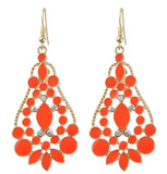 ethnic hollow flower shape dangle earrings for women