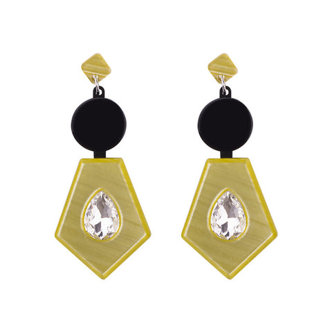 trendy irregular shape resin drop earrings for women