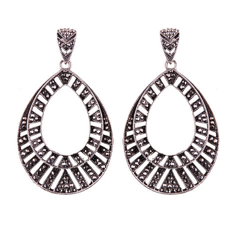 trendy big geometric statement earrings for women