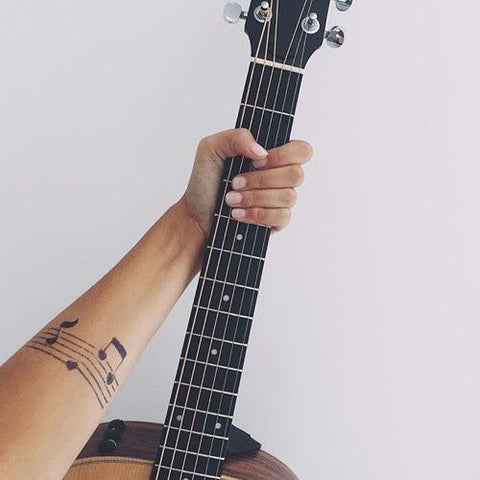 music notes design waterproof temporary tattoo sticker