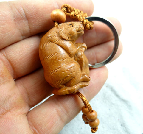 three dimensional lifelike tiger engraving key chain