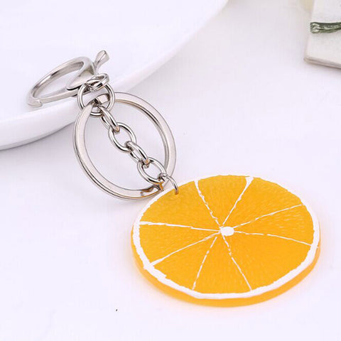 cute fresh fruits key chain holder