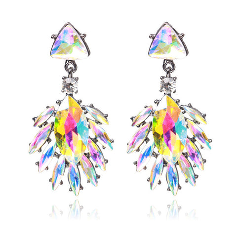 luxury rhinestone crystal drop earrings for women