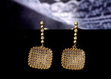 luxury cz zircon crystal drop earrings for women