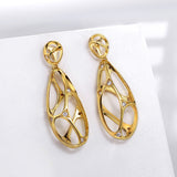 luxury hollow shape cz zircon crystal earrings for women