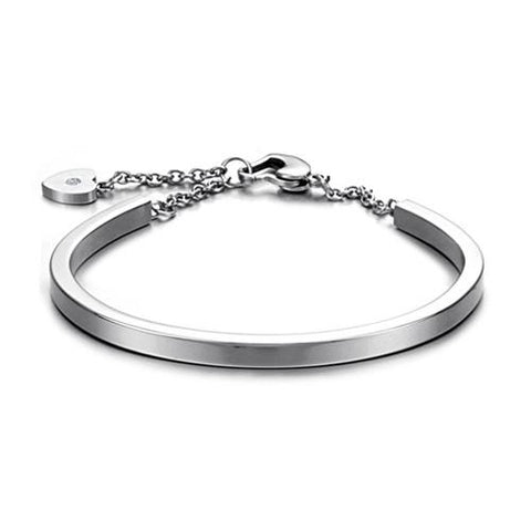simple design stainless steel bangle bracelet for women