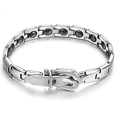 titanium steel energy belt buckle chain bracelet