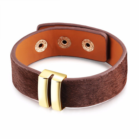 vintage simple design leather bracelet bangle for women