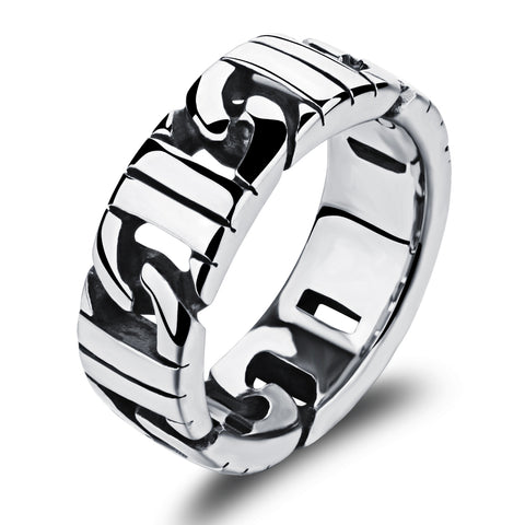 cool silver color stainless steel ring for men