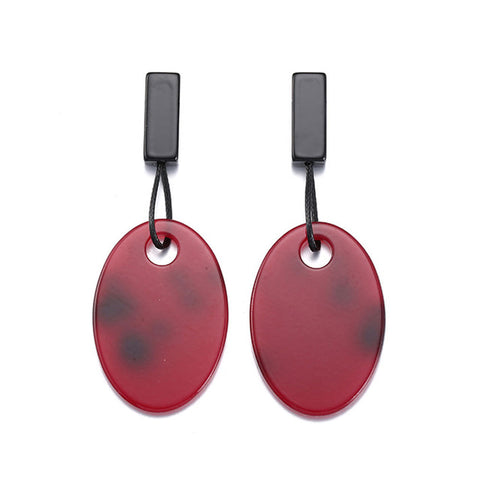 trendy acrylic oval shape stud earrings for women
