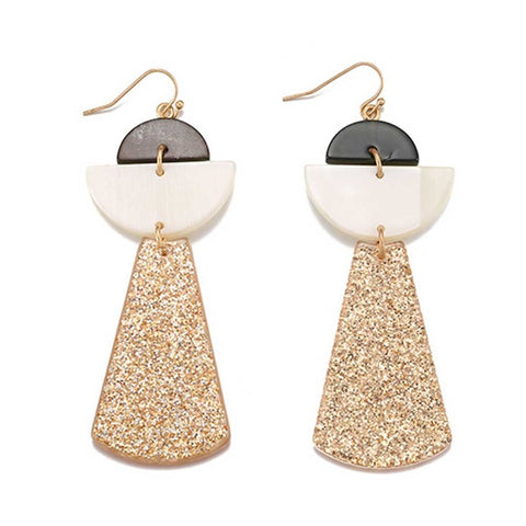 transparent acrylic geometric drop earrings for women