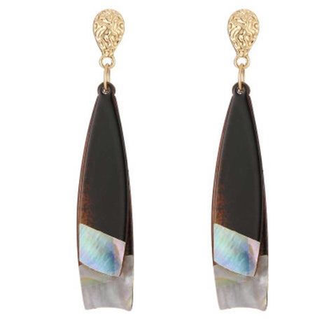 trendy acrylic with marble effect drop earrings for women