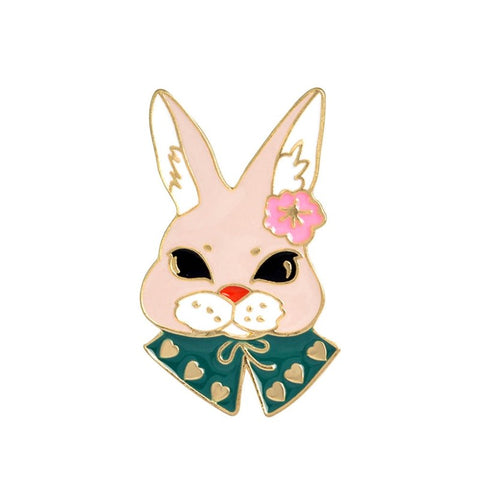 cute metal rabbit shape brooch pin jewelry