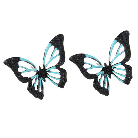 cute hollow butterfly shape stud earrings for women