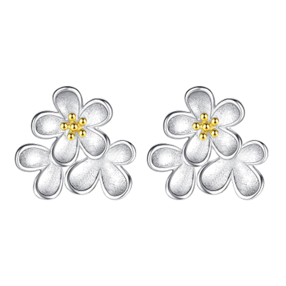 Drop Earrings Jewelry Factory Cute Popular Glass Stone Flower Earrings Stud