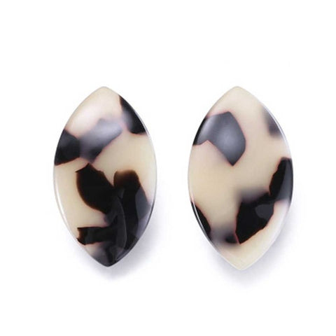 trendy curved marble pattern acrylic stud earrings for women