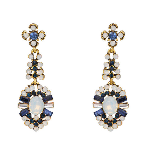 luxury flower shape drop earrings for women