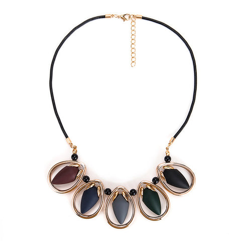 boho waterdrop acrylic statement choker necklace for Women