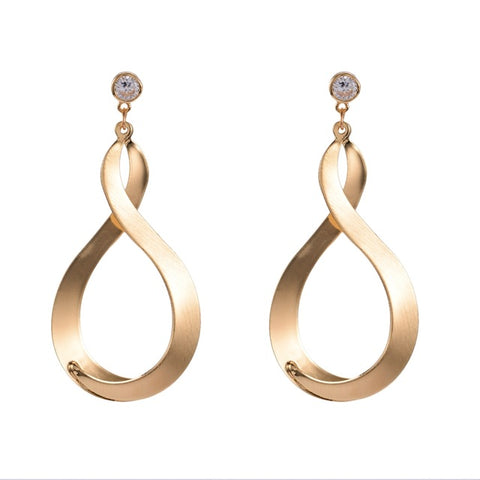 elegant irregular shape gold color dangle earrings for women