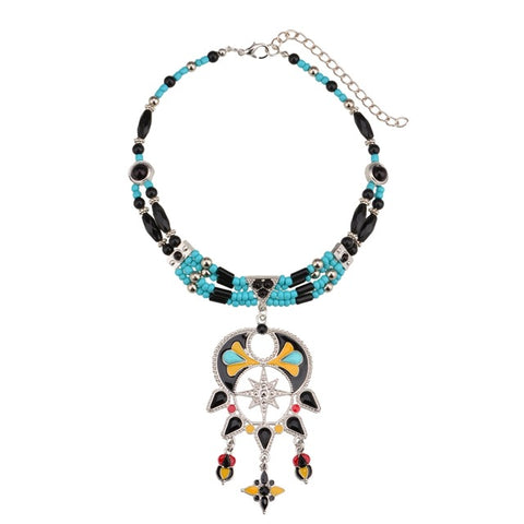bohemian choker statement necklace for women