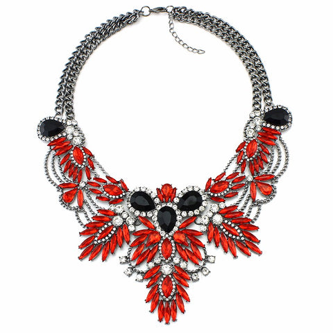 luxury rhinestone crystal collar necklace & pendant for women