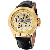luxury automatic mechanical oracle display wrist watch for men