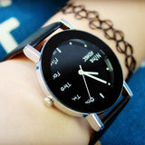 simple design wrist band quartz watch for women