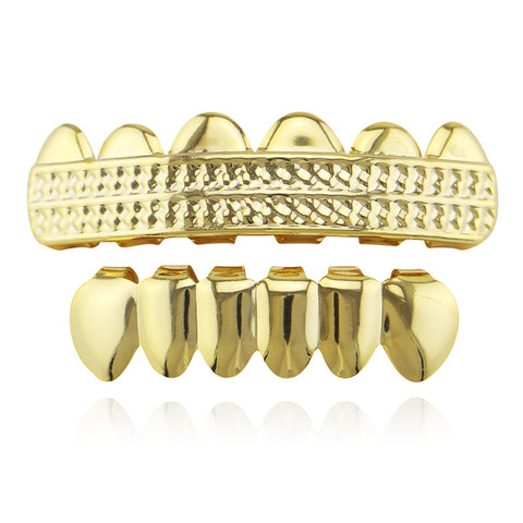 hip hop style carved shape teeth grillz jewelry
