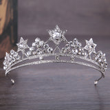 luxury rhinestone crystal tiara crown hair band for women